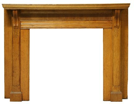 7: Oak Half Mantel