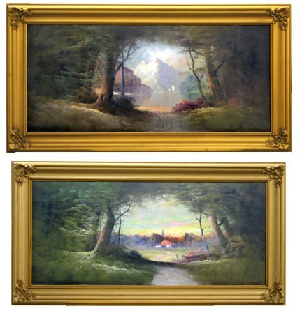 12: Oil On Canvas Landscape Paintings