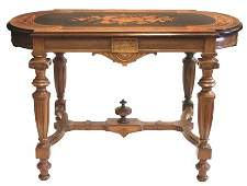 232 Renaissance walnut inlaid table