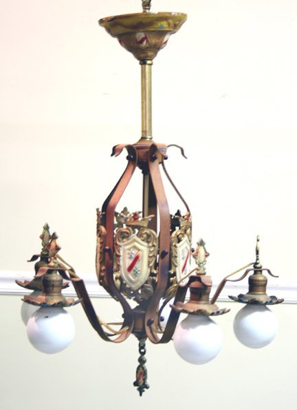 317: 5 Arm Art Deco Light