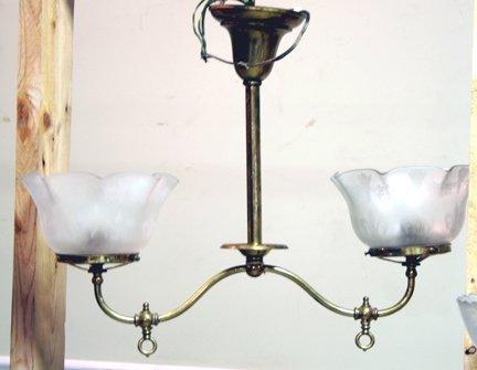 318: 2 Arm Gas Light Fixture