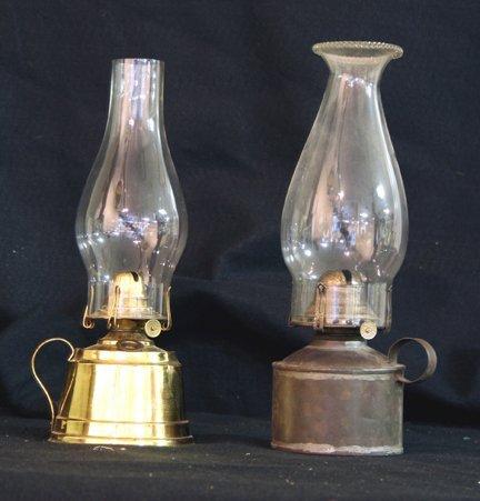 320: 2 Miniature Kerosene Finger Lamps