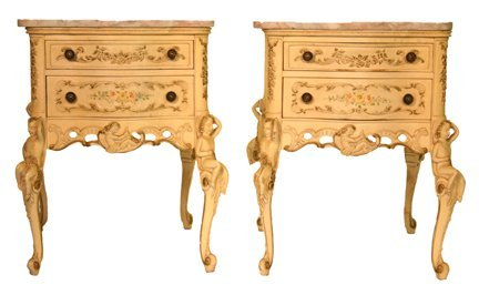 4: Marble Top Painted French Commode