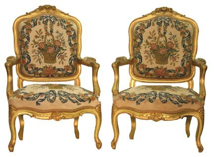 6: French Gold Gilt Chair