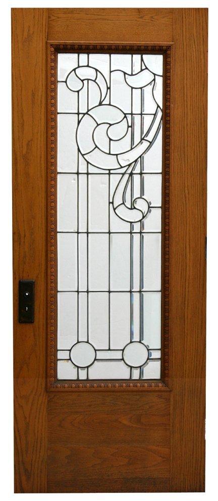 7: Clear Beveled Door - Oak