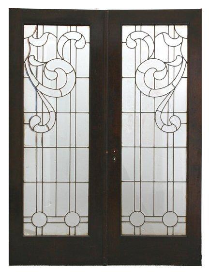 8: Clear Beveled Doors