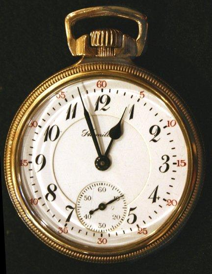 11: Gold Pocket Watch - Hamilton