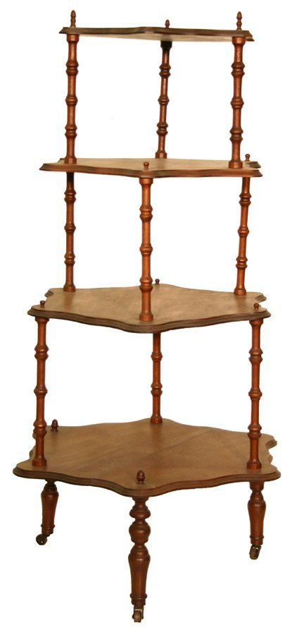 21: Victorian What-Not Stand - 4 Tier