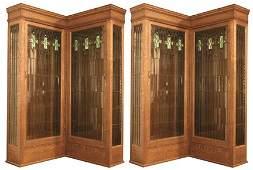 68: Oak Mission Corner Bookcase