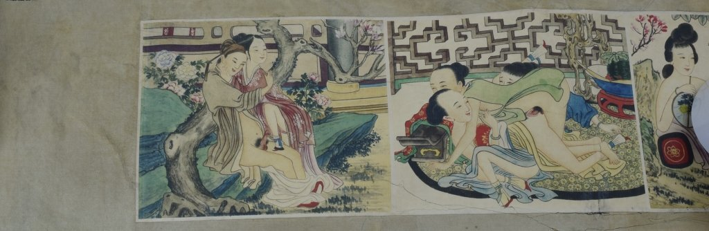 "Chinese ""Chun Gong Tu"" Scroll Painting - 4"
