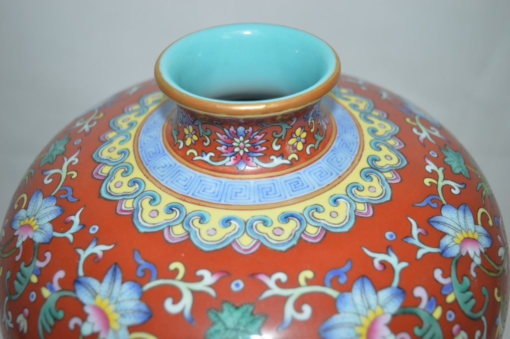 Chinese Famille Rose Porcelain Meiping Vase - 2