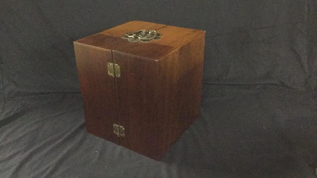 Table top Asian hinged apothecary cabinet - 3