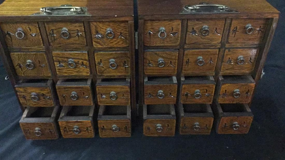Table top Asian hinged apothecary cabinet - 5