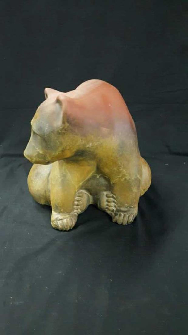 Signed plaster brown bear with signature - 2