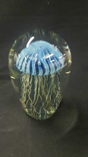 Robert Eickholt jellyfish dome paperweight.
