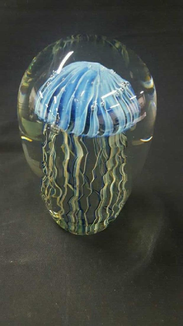 Robert Eickholt jellyfish dome paperweight. - 2