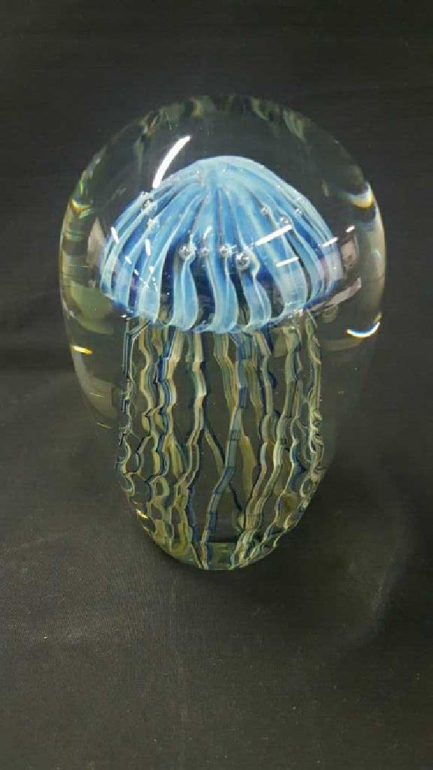Robert Eickholt jellyfish dome paperweight. - 3