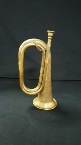 Antique military bugle