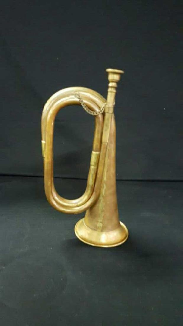 Antique military bugle