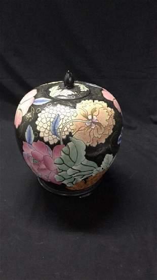 Cloisonné Vase on woodenstand