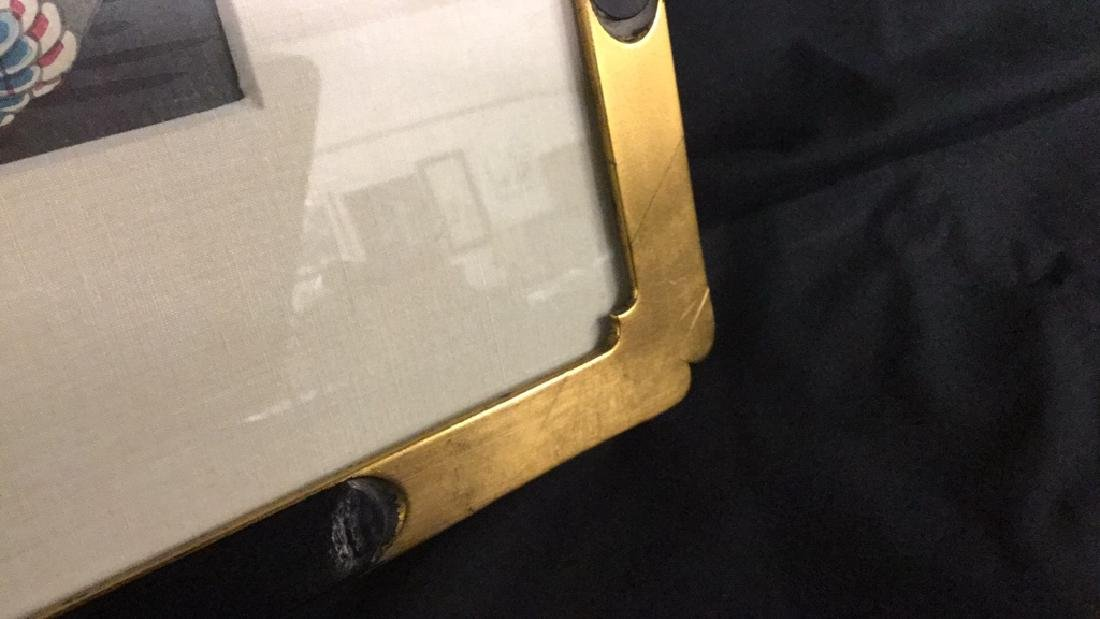 Vintage Samurai & Carp Silk framed - 4