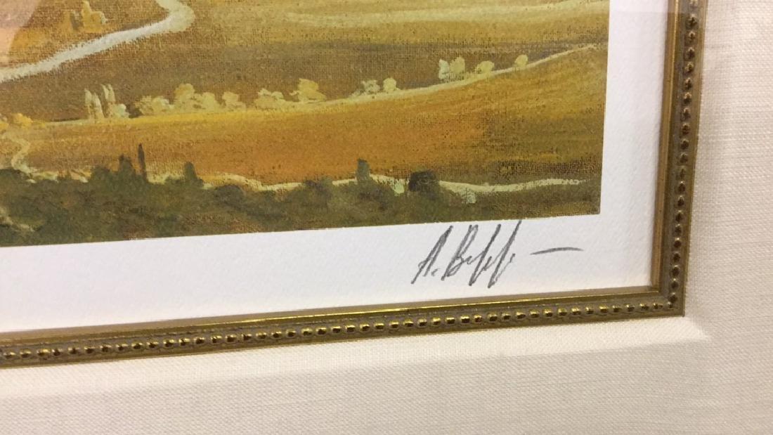 Original print of flying ship (signed) 319/395 - 3