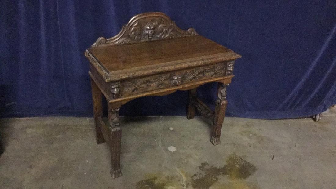 Early American oak writing desk