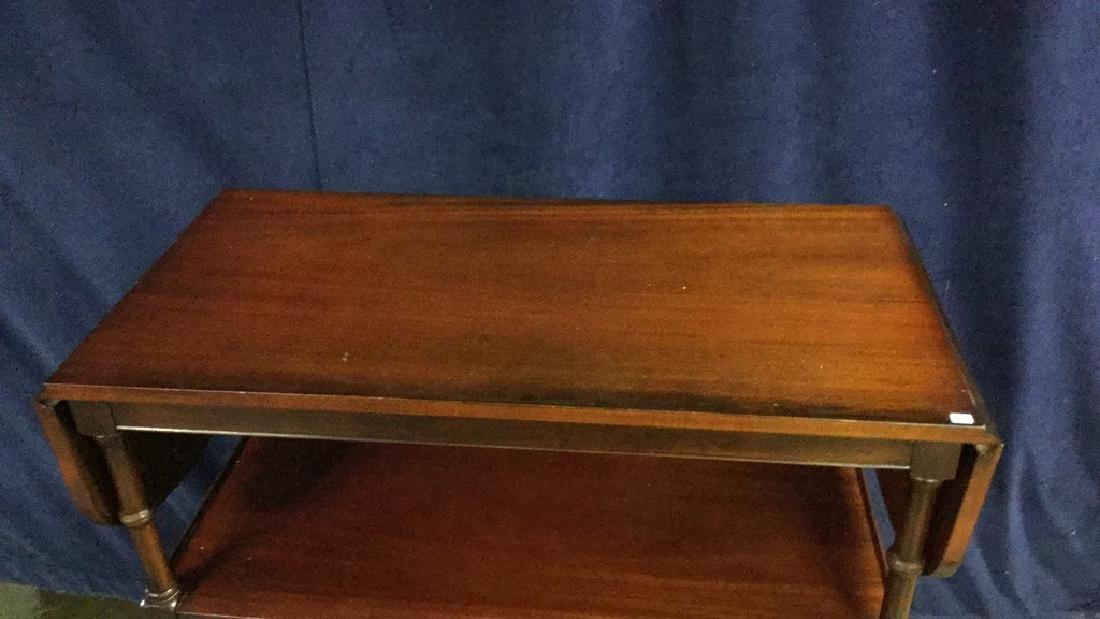 Early American oak writing desk - 4