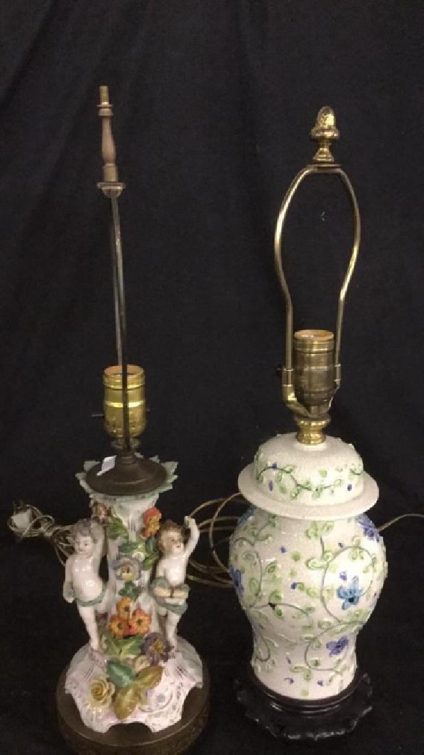 2 Porcelain lamps
