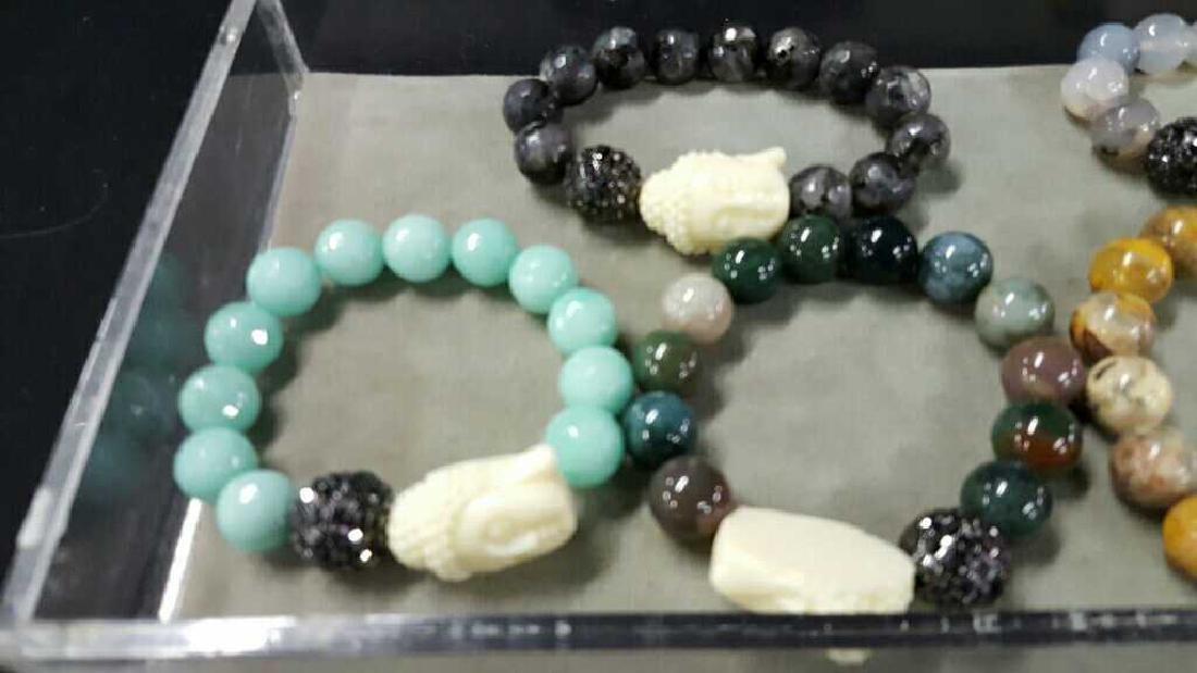 Stone and glass Asian bracelets - 2