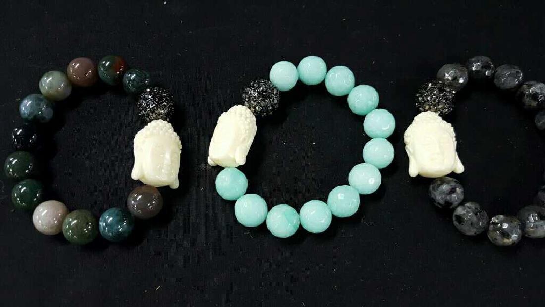 Stone and glass Asian bracelets - 3