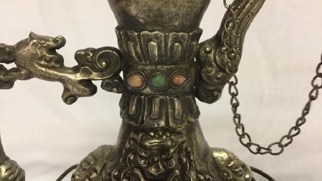 Vintage decorative teapot and 2 brass eggs - 7