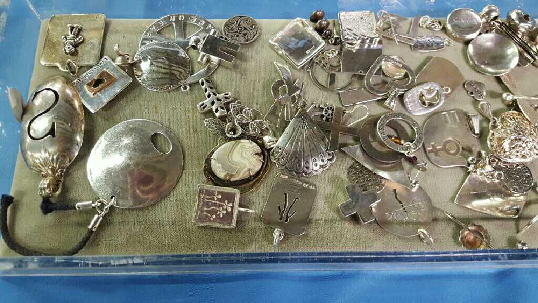 Misc sterling silver earrings and pins - 2