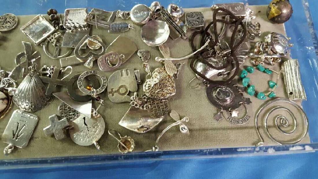 Misc sterling silver earrings and pins - 3