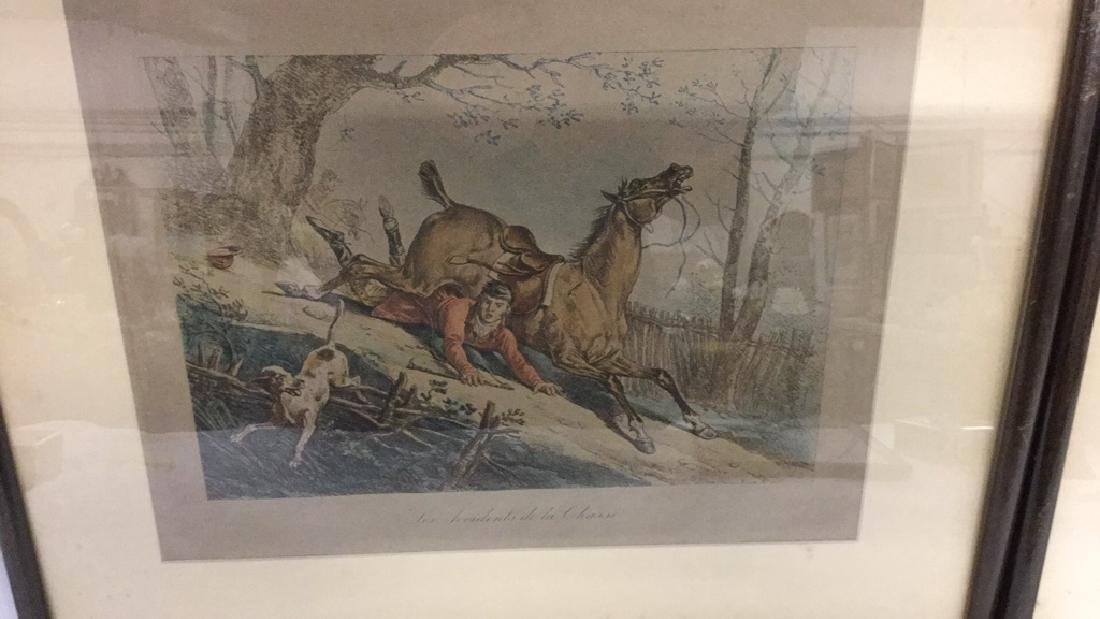 Four framed hunt scene engravings - 2