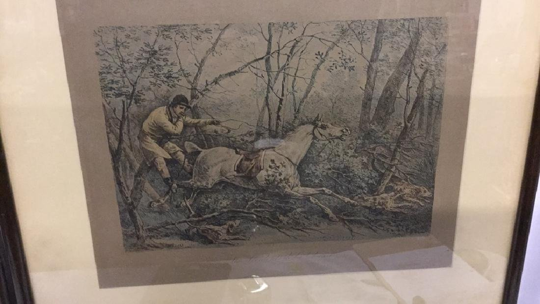 Four framed hunt scene engravings - 5