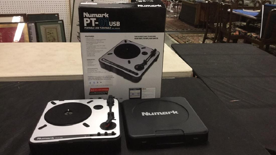 Numark PT-01 portable USB turntable