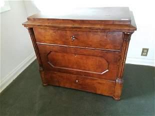 1860's German walnut 3 drawer dresser