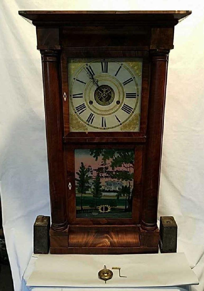 "Silas Terry wall clock ""Price Reduced"""