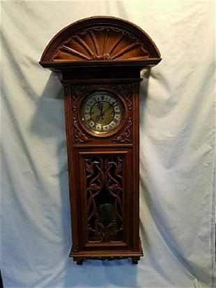 Antique German Gustav Becker 3 weight wall clock