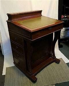 Antique Captain�s Ship Writing Davenport Desk $ Reduce
