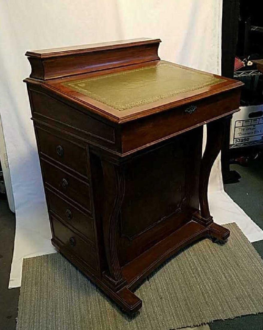 Antique Captain's Ship Writing Davenport Desk $ Reduce
