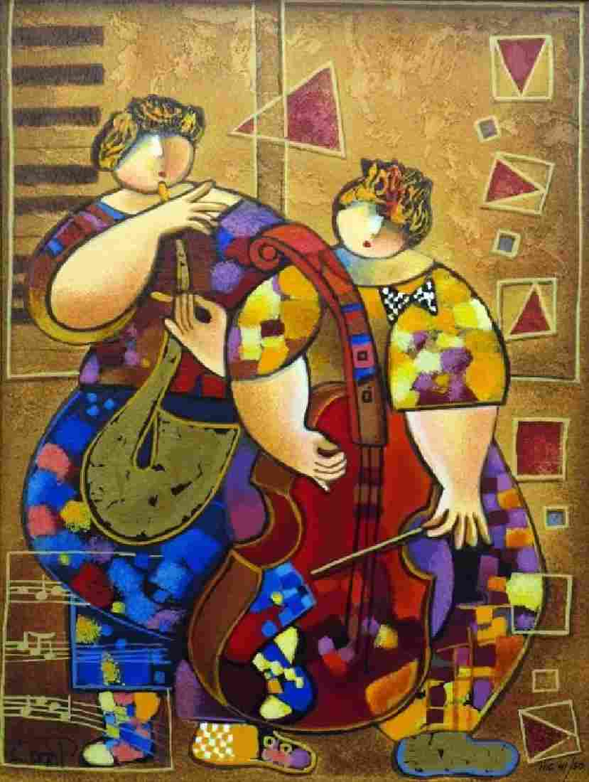 """""""Staccato and Legato"""" serigraph on paper by Dorit"""