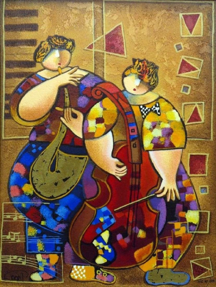 """Staccato and Legato"" serigraph on paper by Dorit"