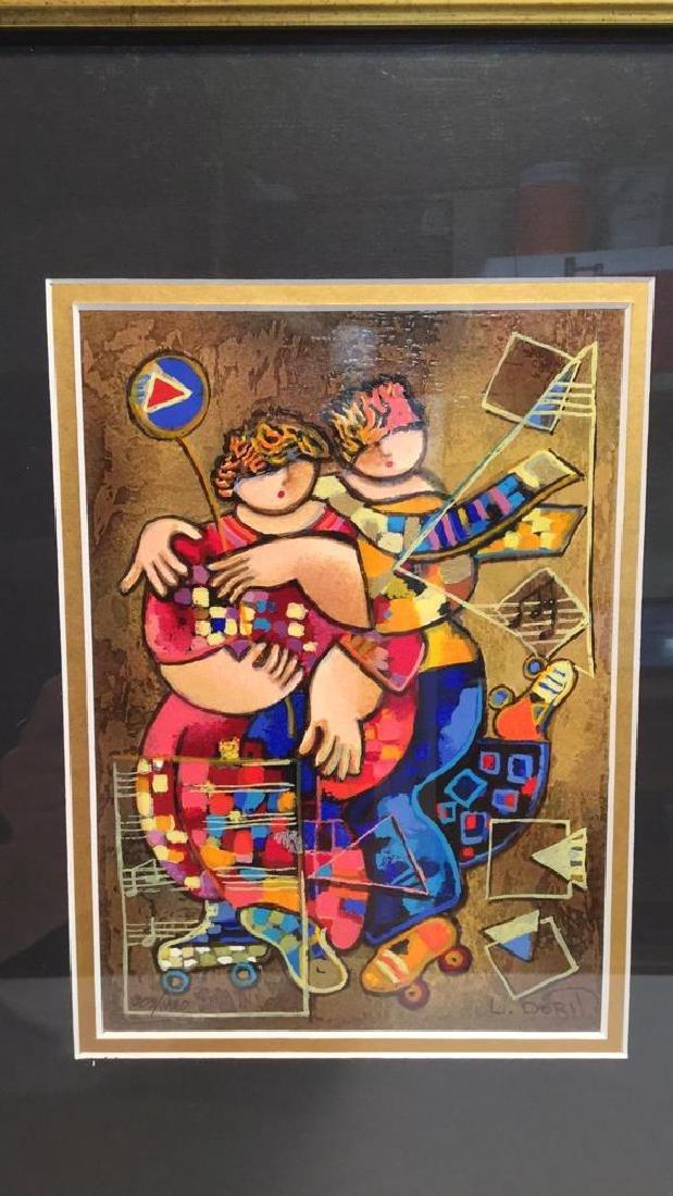 """Moonlight Dancing"" by Dorit Levi Serigraph - 2"