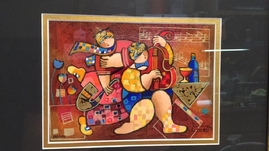 """""""Merry Music"""" serigraph on paper by Dorit Levi - 3"""
