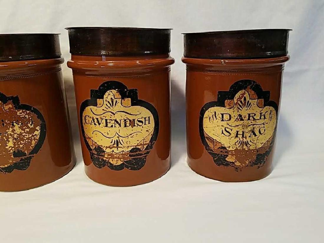 Four H. F. & Sons London stoneware tobacco jars - 3