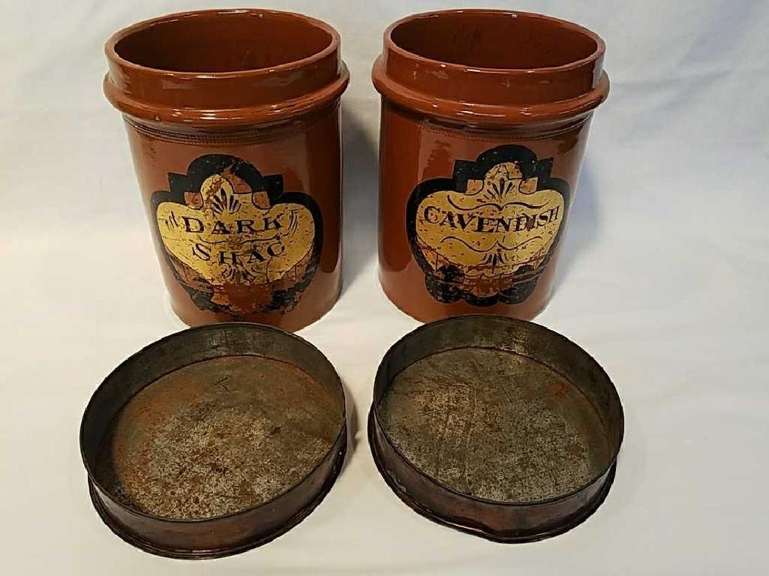 Four H. F. & Sons London stoneware tobacco jars - 5