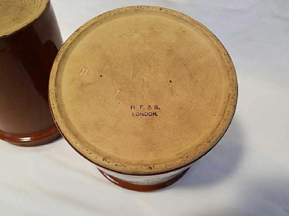Four H. F. & Sons London stoneware tobacco jars - 6