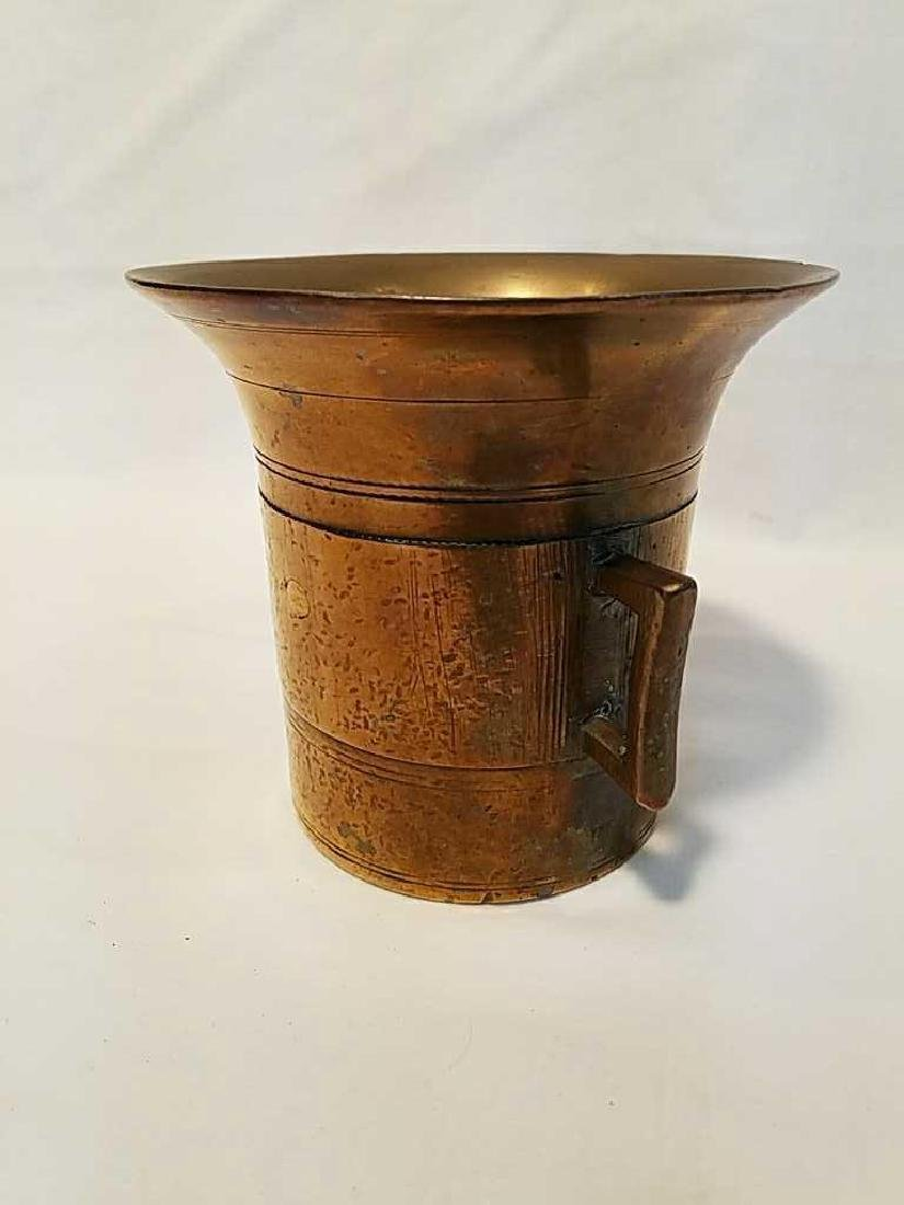 Antique Solid Brass Apothecary Mortar and Pestle - 4